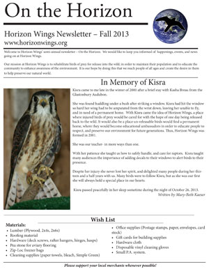 On the Horizon, Horizon Wings' newsletter.